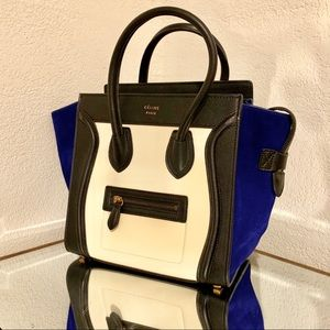 Tri-Color Suede/Leather Celine Luggage